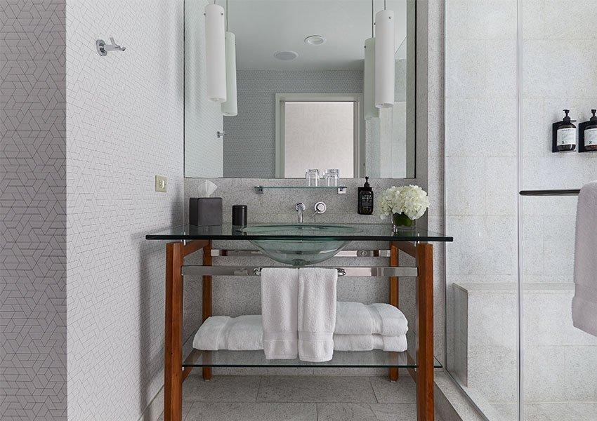 Deluxe Queen bathroom and walk in shower