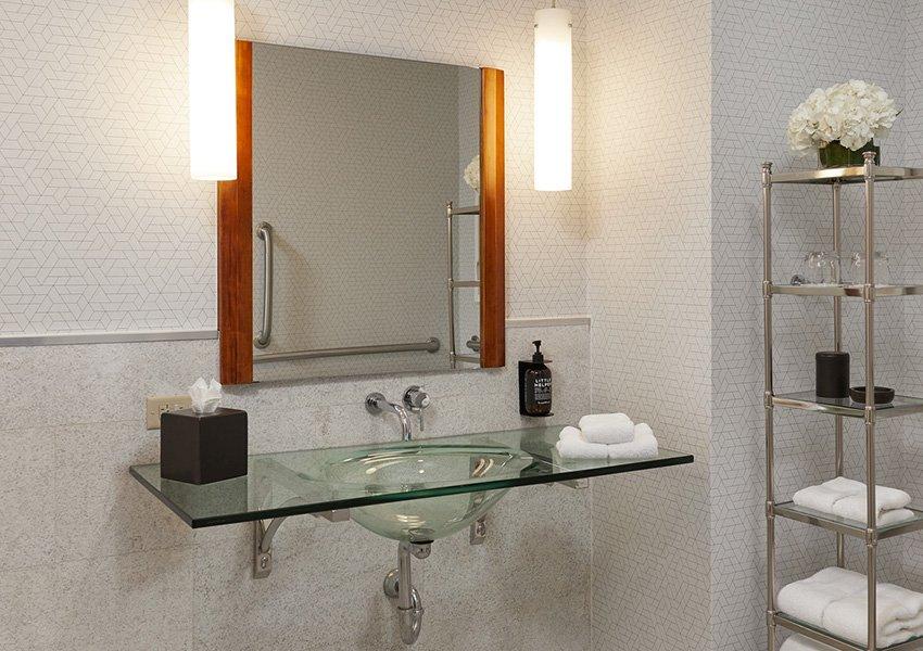 ADA Queen Bedroom Bathroom Sink