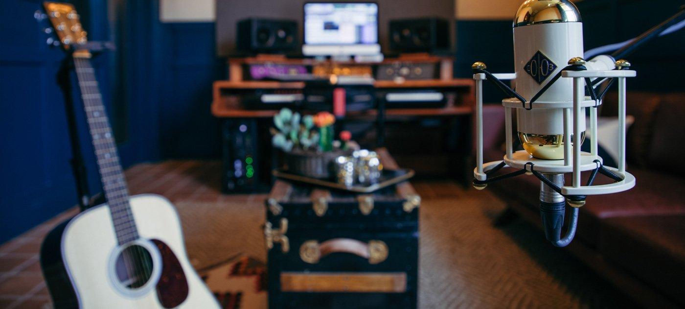 Music equipment in the Writers Studio
